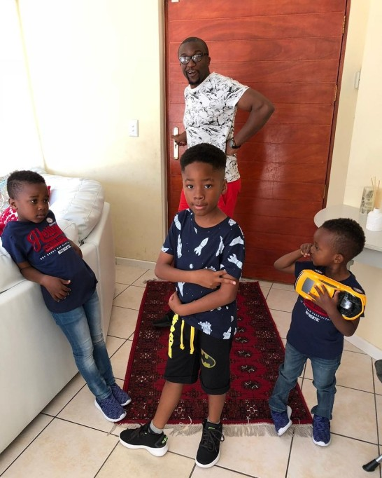 Limbani and crew somewhere in Cape Town