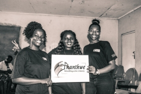 The founders of Thandwe. (L to R) Sellah Singini, Violet Machila