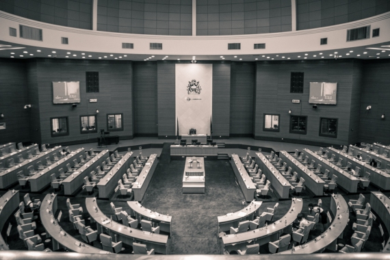 The Youth Parliament during a health break