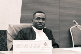 The Sergeant of Arms of the Youth Parliament of Malawi, Edgar Mtsukwa